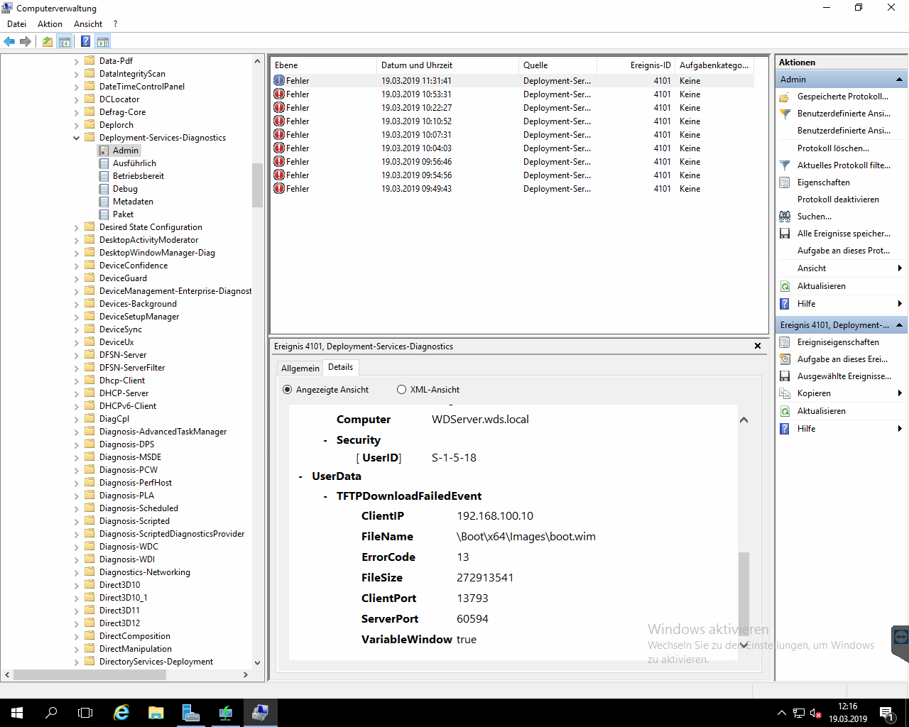Server 2016 - WDS Client failed to start etc  - Windows Server Forum